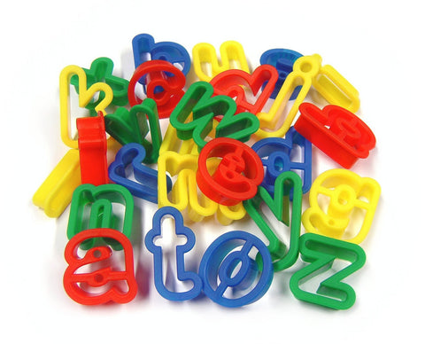 Child's Dough Tools - Alphabet Cutters lower case