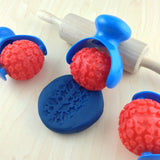 Child's Dough Tools - Textured Dough Roller