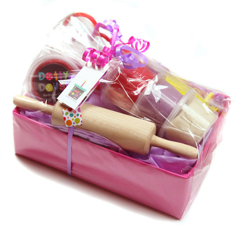 Handmade Child's Dough Hamper - Pink