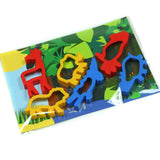 Child's Dough Jungle play mat with animal cutters