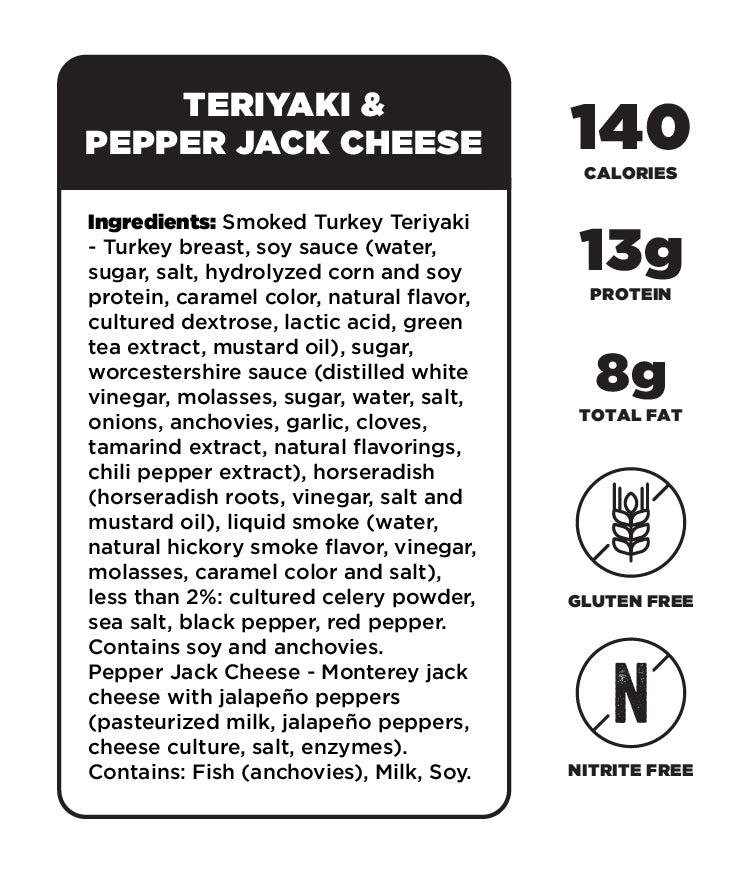 Teriyaki & Pepper Jack Cheese