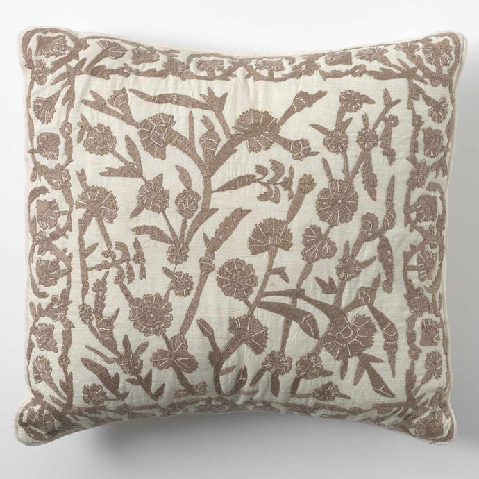 Botanical Square Cushion - Gold