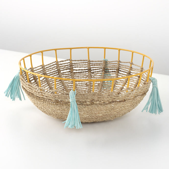 Wicker and Metal Dish
