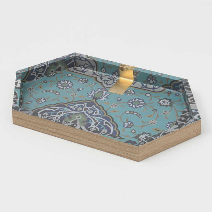 Long Hexagonal Tea Tray