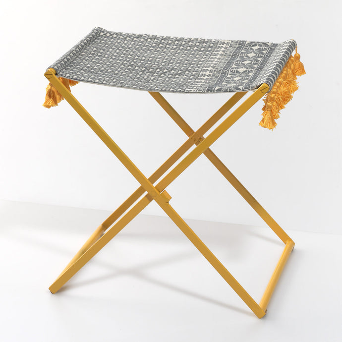 Yellow Folding Stool