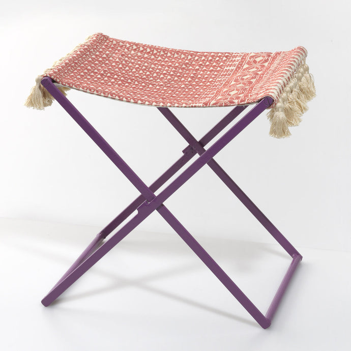 Purple Folding Stool