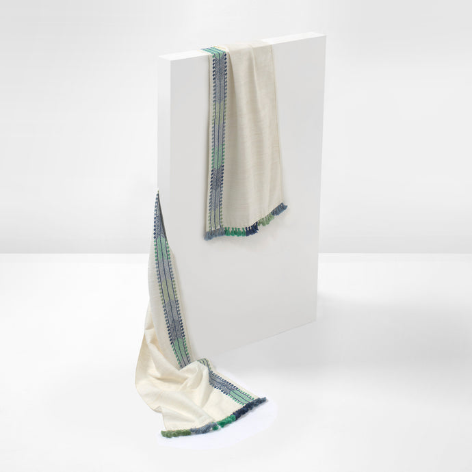Blue and Green Table Runner