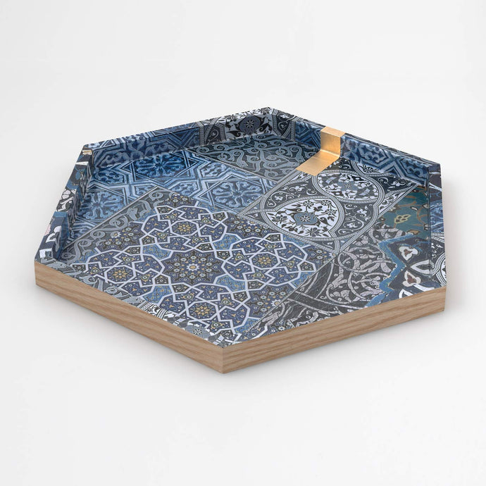 Hexagonal Tea Tray