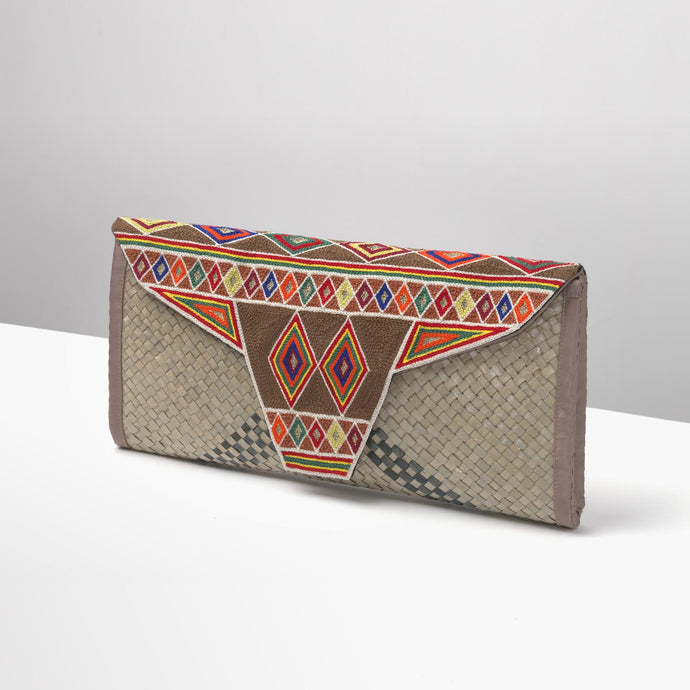 Natural and Multicolour Sleysla Clutch