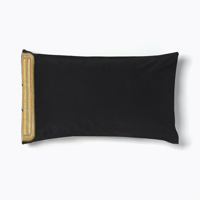 Black and Gold Bisht Cushion
