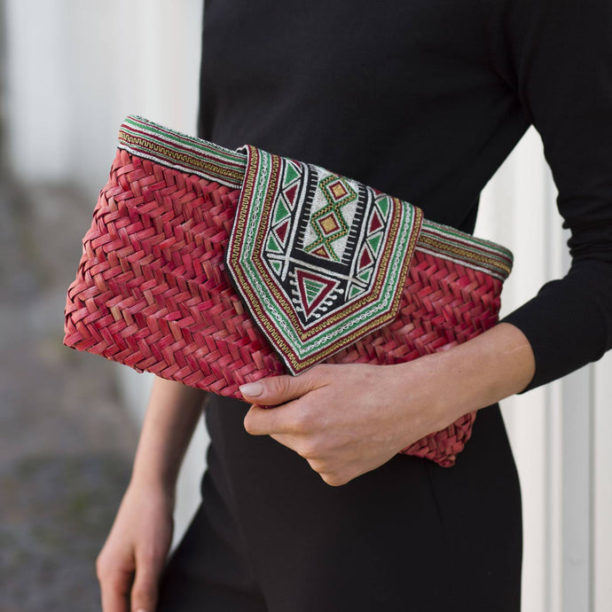 Red Sleysla Clutch