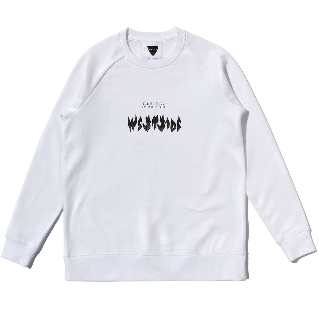 WESTSIDE SWEATSHIRT WHITE - SIXELAR
