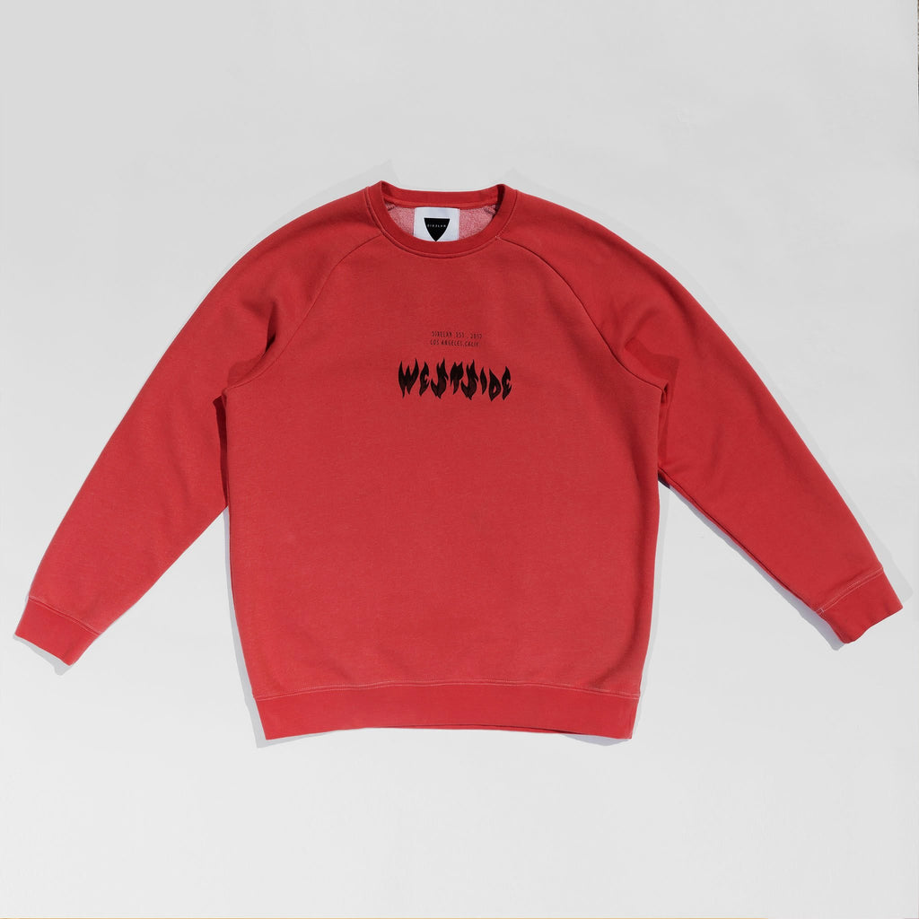 WESTSIDE RED SWEATSHIRT - SIXELAR