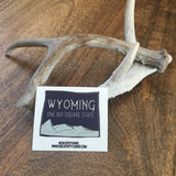Wyoming One Big Square State Sticker