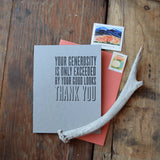 Your Generosity...Thank You Card
