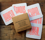 Spirit Reindeer Holiday Funny Letterpress Coaster Sets