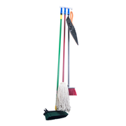 Magnetic Style Ceiling Mount Mop and Broom Holder with Grips Package