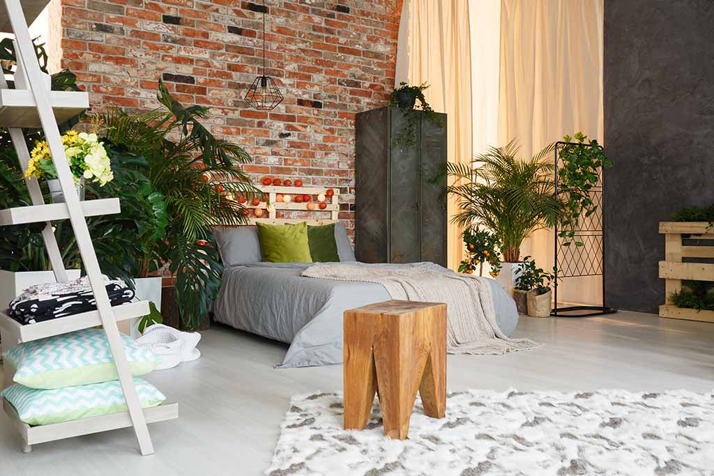 5 Tips for Creating an Industrial Bedroom - Experiment with Textures