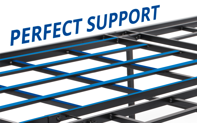 Puffy Mattress foundation steel supports