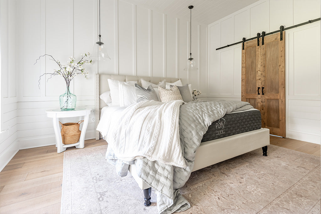 What are five modern decor essentials that can transform the look of any bedroom?