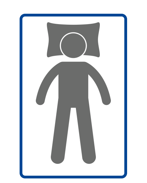 Puffy Mattress back sleepers icon