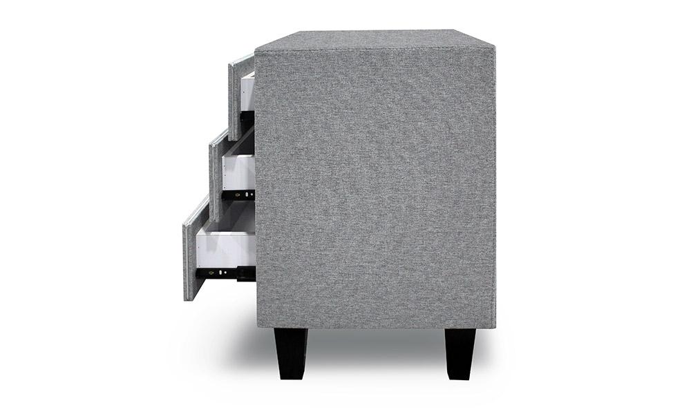 Puffy Gray Nightstand