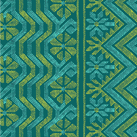 Bright Heart - Cosmo Weave in Teal
