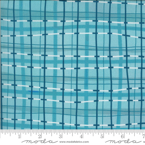 Lakeside Story - Plaid Blanket in Freshwater