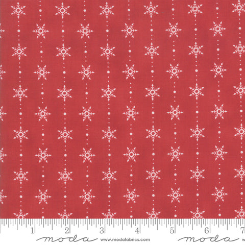 Homegrown Holidays - Snowflakes in Barn Red