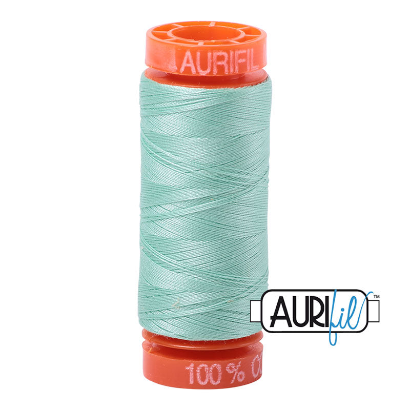 Aurifil 50wt Cotton Thread - 220 Yards - Medium Mint 2835