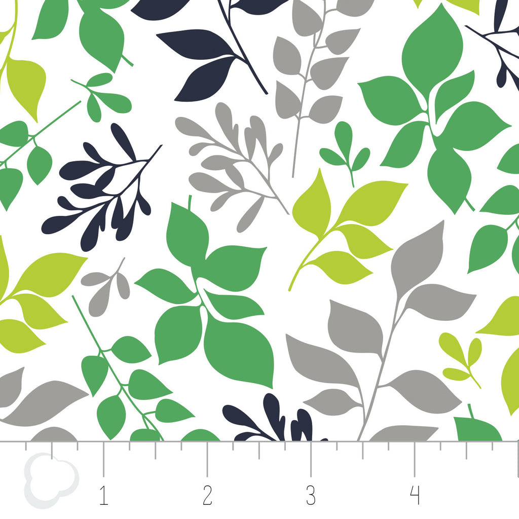 Green With Envy - Leaves in White