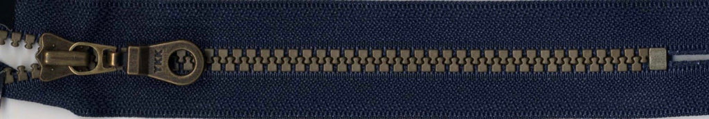 "9"" Brastique Zipper in Navy"