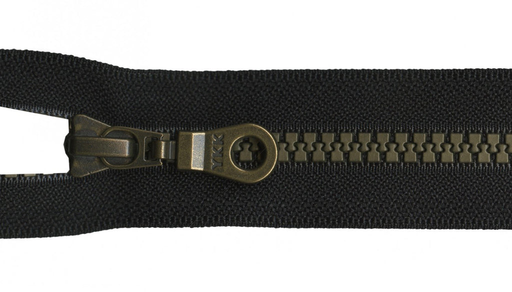 "7"" Brastique Zipper in Black"