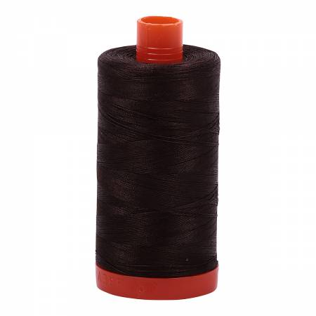 Aurifil 50wt Cotton Thread - 1422 Yards - Very Dark Bark 1130