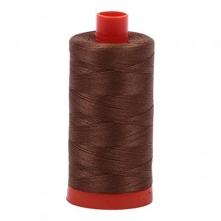 Aurifil 50wt Cotton Thread - 1422 Yards - Dark Antique Gold 2372