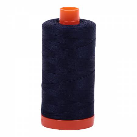 Aurifil 50wt Cotton Thread - 1422 Yards - Very Dark Navy 2785