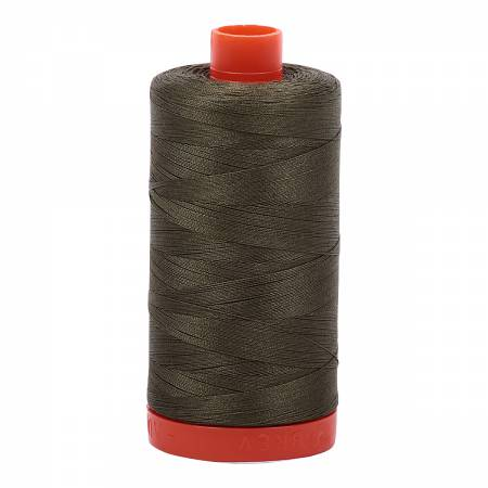 Aurifil 50wt Cotton Thread - 1422 Yards - Army Green 2905