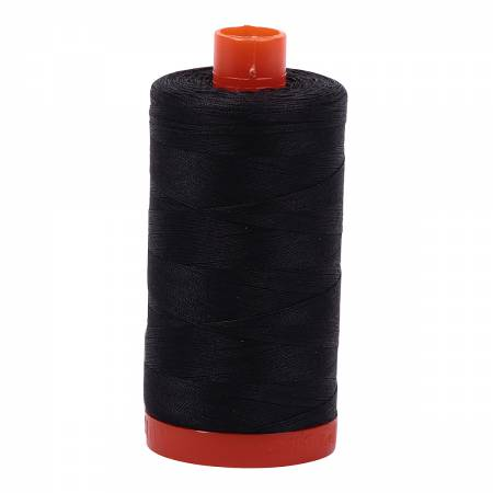 Aurifil 50wt Cotton Thread - 1422 Yards - Very Dark Grey 4241