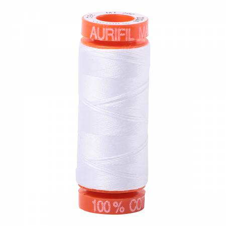 Aurifil 50wt Cotton Thread - 220 Yards - White 2024