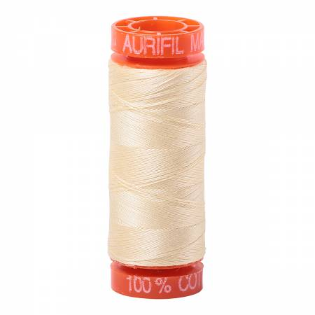 Aurifil 50wt Cotton Thread - 220 Yards - Light Lemon 2110