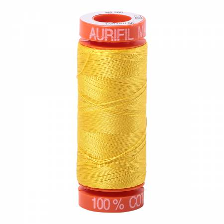 Aurifil 50wt Cotton Thread - 220 Yards - Canary 2120