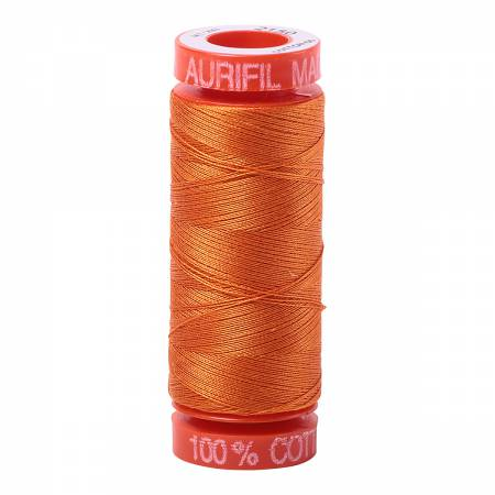 Aurifil 50wt Cotton Thread - 220 Yards - Pumpkin 2150