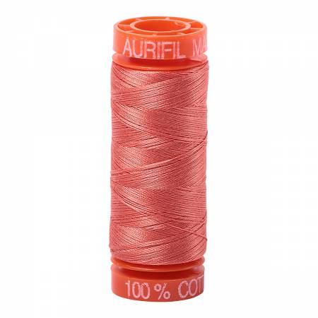 Aurifil 50wt Cotton Thread - 220 Yards - Salmon 2225