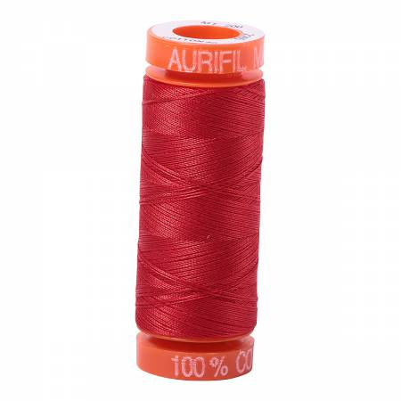 Aurifil 50wt Cotton Thread - 220 Yards - Lobster Red 2265