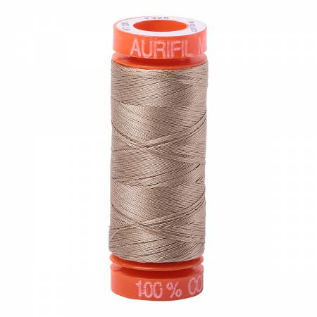 Aurifil 50wt Cotton Thread - 220 Yards - Linen 2325