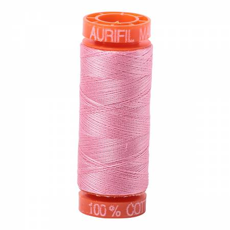 Aurifil 50wt Cotton Thread - 220 Yards - Bright Pink 2425