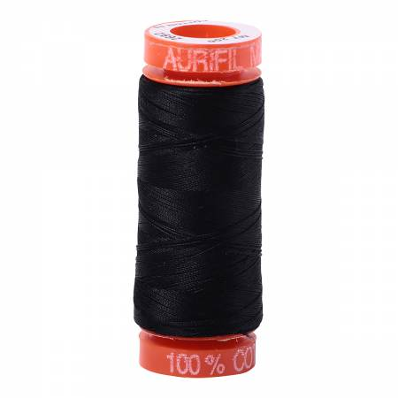 Aurifil 50wt Cotton Thread - 220 Yards - Black 2692
