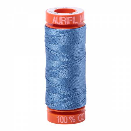 Aurifil 50wt Cotton Thread - 220 Yards - Light Wedgewood 2725
