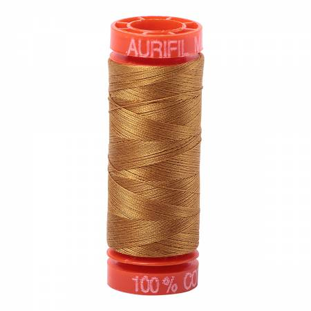 Aurifil 50wt Cotton Thread - 220 Yards - Brass 2975