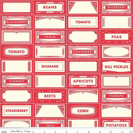 Farm Girl - Canning Labels in Red